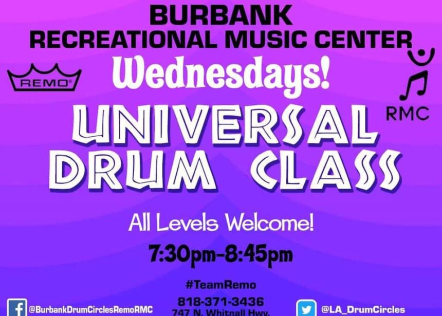 Wednesday Universal Drum Class 7:30p.m.